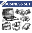 Sketch business set vector