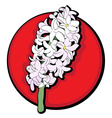 Hyacinth clip art red vector
