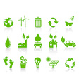Simple green eco icons set vector