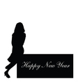 Happy new year with girl vector