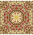 Ornamental round seamless pattern with many vector