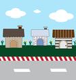 Cute cartoon homes on street1 01 vector