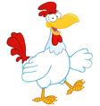 Happy rooster walking vector