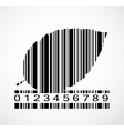 Barcode autumn leaf image vector