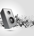 Speaker music background vector