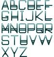 Blue glow alphabet vector
