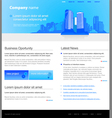 City website template vector