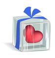 Heart in ice cube vector