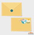 Envelope business working elements for web design vector