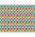 Colorful geometric painted pattern vector