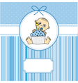 Baby boy with a cake vector