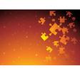 Golden puzzle vector