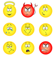 Smileys set vector
