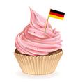 German cupcake vector