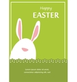Easter bunny looking out a green retro background vector