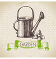 Vintage sketch gardening background vector