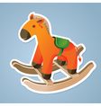 Toy horse sticker vector