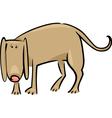 Cartoon doodle of sad dog vector