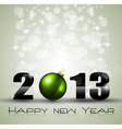 2013 ecology green themed greetings for new year vector