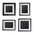 Realistic black picture frames with blank center vector