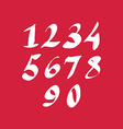 Hand written fresh numbers stylish drawn numbers vector