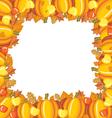 Pumpkin apple frame vector