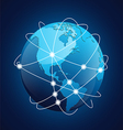 World globe navigation vector