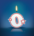 Candle number 0 with flame vector