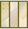 Vintage banners retro pattern design set vector