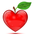 Heart apple vector