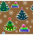 Seamless christmas trees vector
