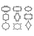 Ornamental vintage frame set vector