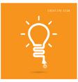 Creative light bulb concept vector