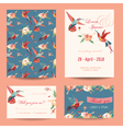 Invitation save the date card set vector