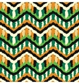 Green and orange hippie pattern vector