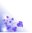 Bright purple leaves with bubbles vector