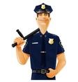Policeman with truncheon vector