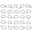 Clouds speak bubbles vector