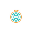 Travel circle mockup logo globe arrow with 360 vector