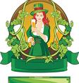 Emblem st patrick day vector