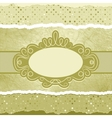 Vintage elegant card template copy space eps 8 vector