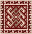 Classic greek meander ornament vector