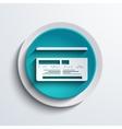 Modern blue circle icon web element vector