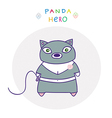 Panda hero cat vector
