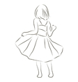 Girl in a dress vector