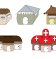 Cute cartoon houses1 01 vector