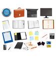 Mega collection of office supplies vector
