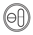 Medicine pills symbol icon vector