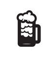 Beer glass black silhouette vector