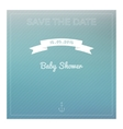 Save the date baby shower card vector